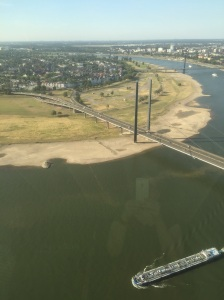 Looking back towards Duisburg