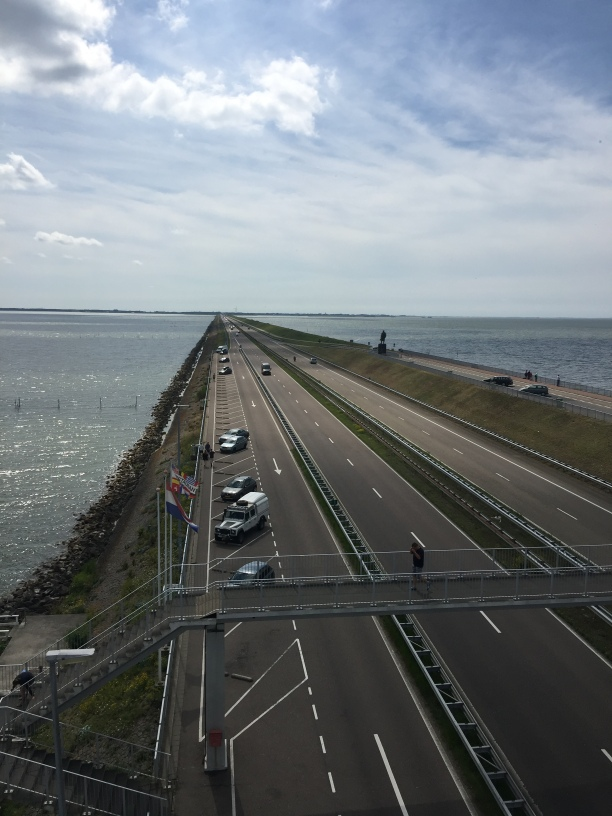 Afsluitdijk- looking back towards Den Oever