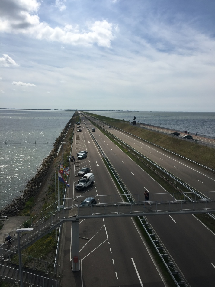 Afsluitdijk- looking back towards Den Oever